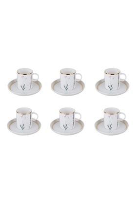 Porland Beyaz Kahve Takımı 12 Parça