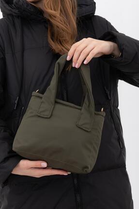 Shule Bags Kumaş Kadın Çapraz Çanta Taglıa Haki
