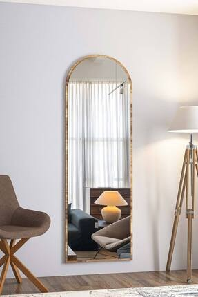 bluecape Dev Boy Ceviz  Salon Ofis Mutfak Çocuk Odası Duvar Konsol Boy Aynası 180cm
