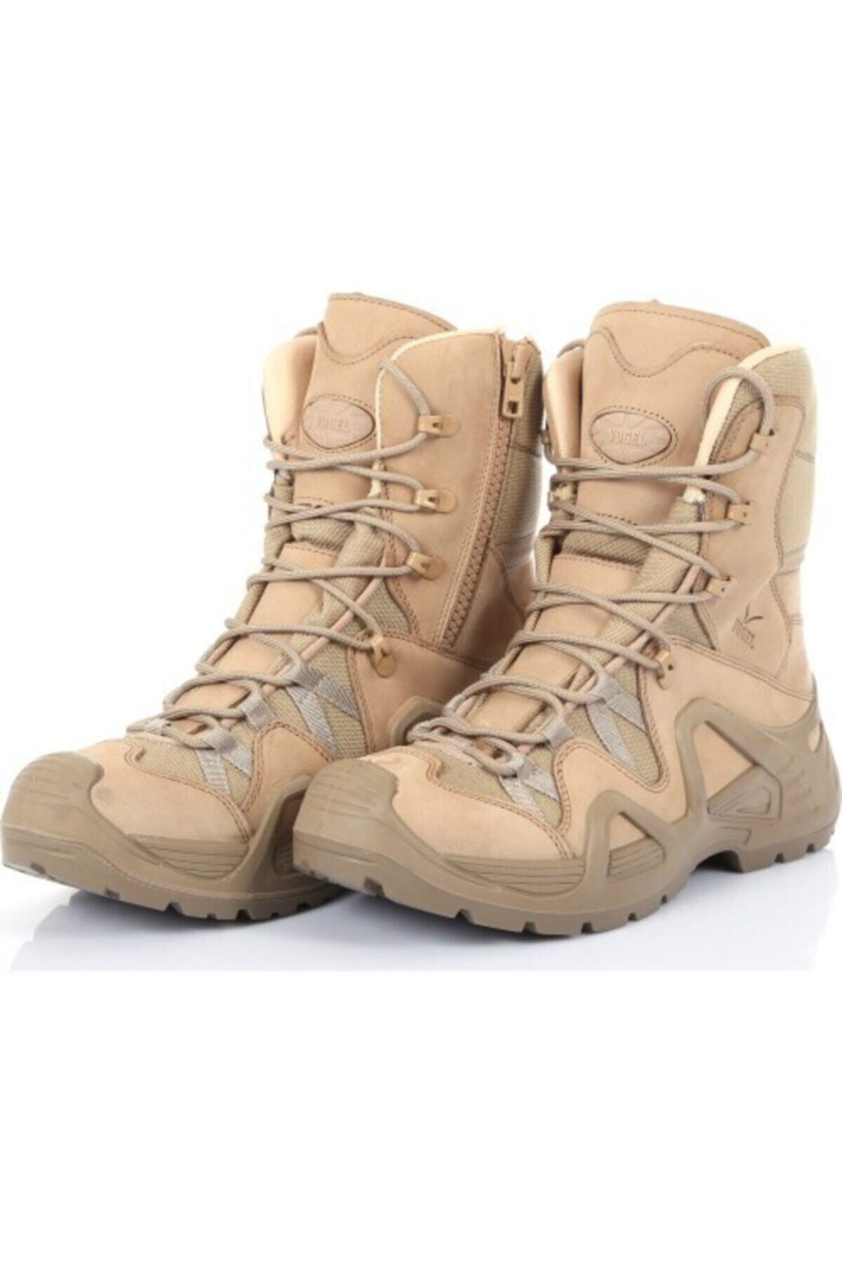 Silyon Askeri Giyim Bej Vogel Fermuarlı Askeri Tip Bot 1