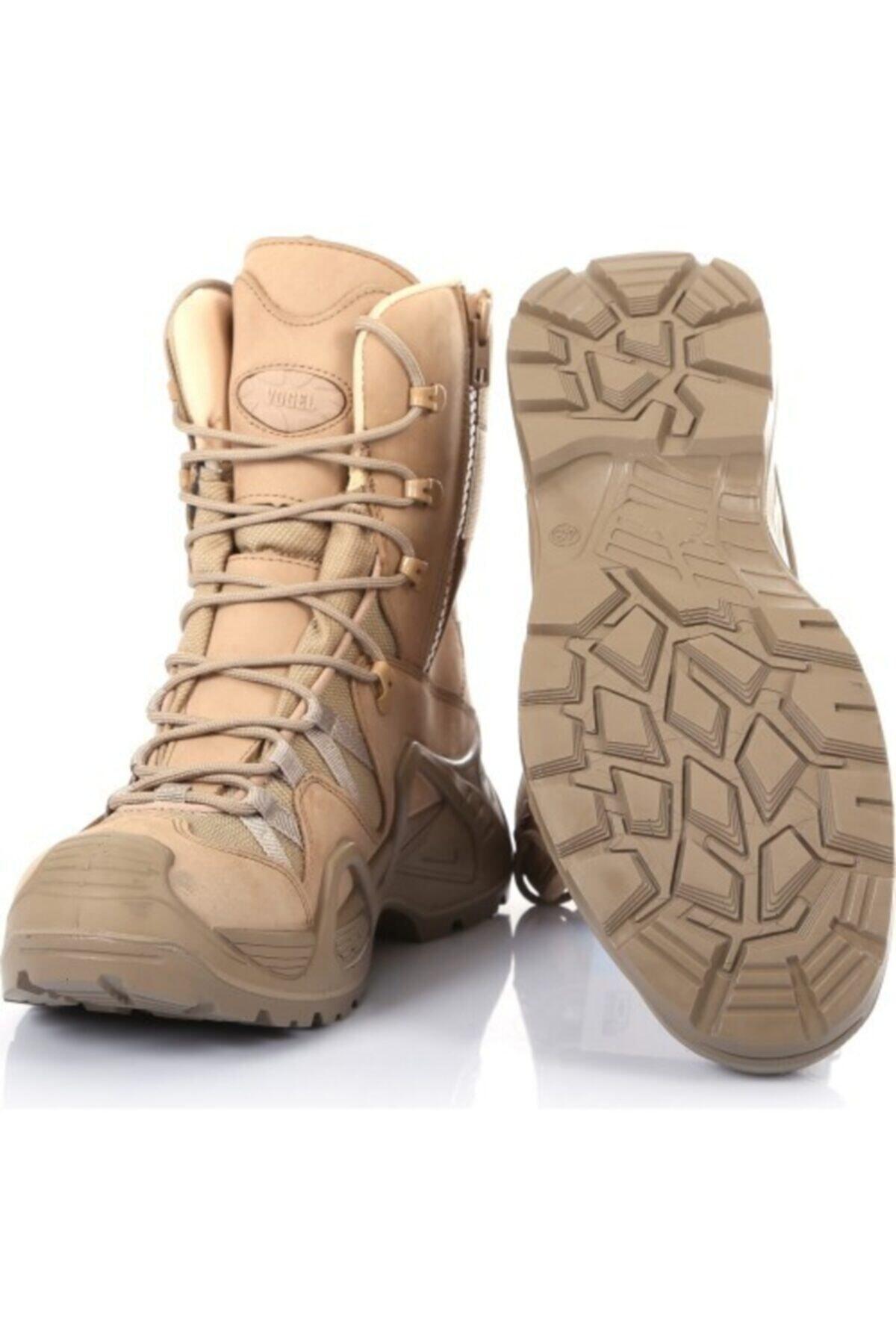 Silyon Askeri Giyim Bej Vogel Fermuarlı Askeri Tip Bot 2