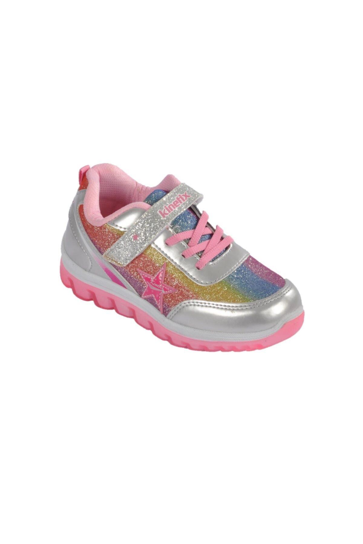 Kinetix SIMA 9PR Gümüş Kız Çocuk Yürüyüş Ayakkabısı 100427305 1