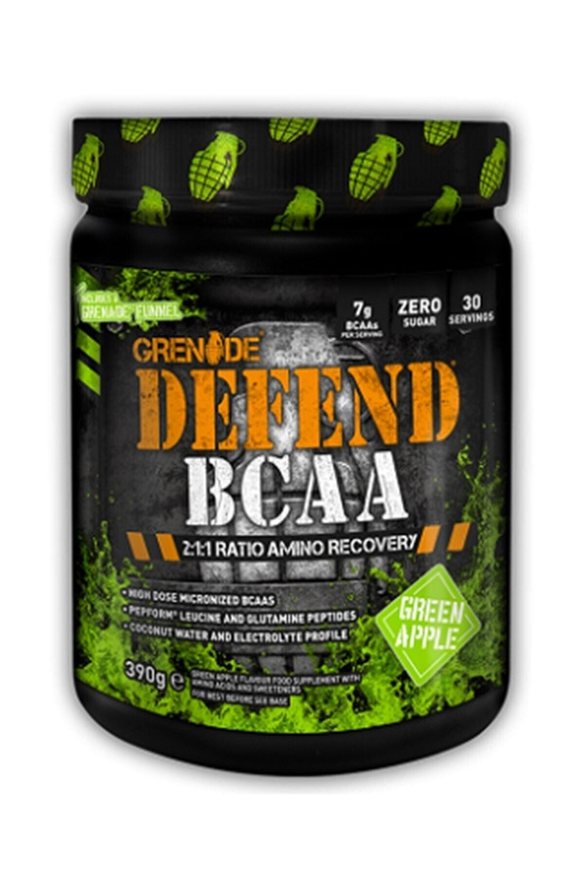 Grenade Defend Bcaa 390 gr - Yeşil Elma 1