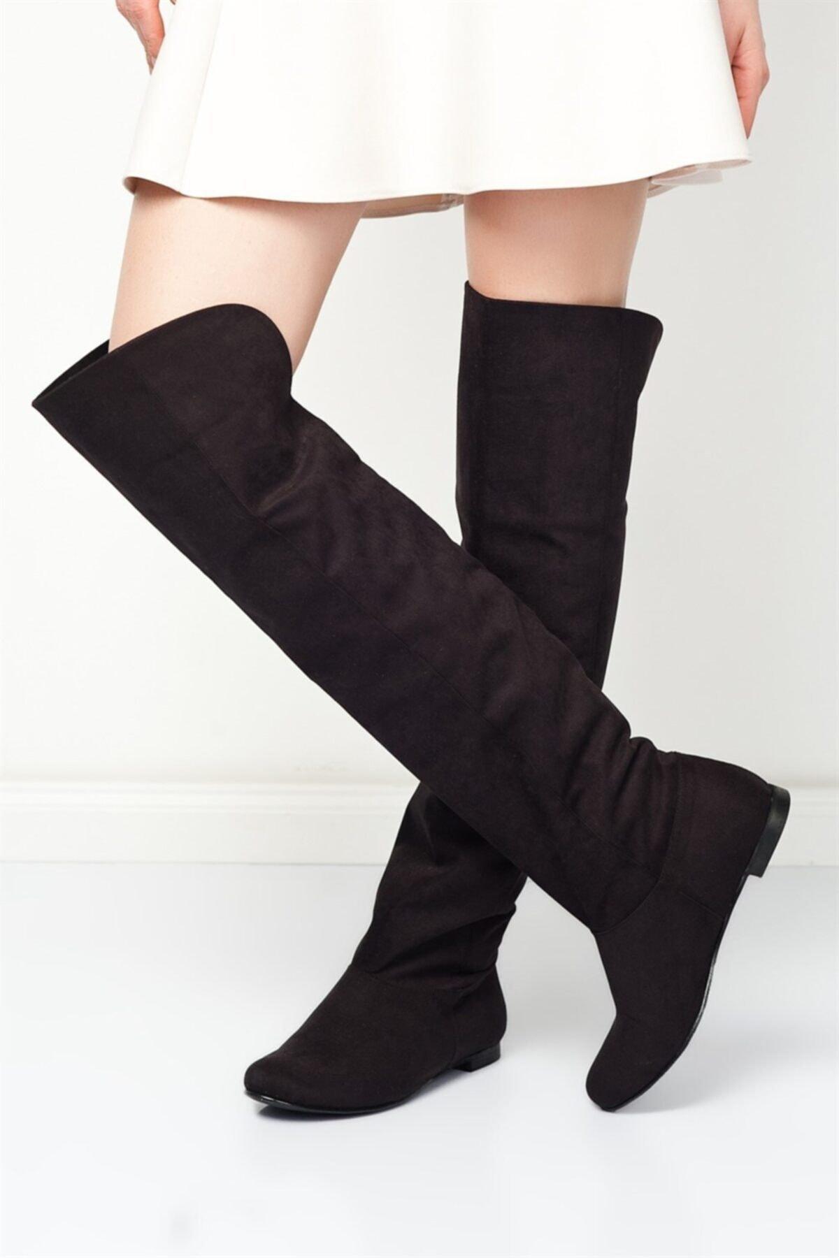 Fox Shoes Siyah Kadın Çizme 8248025902 1