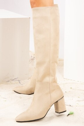 Fox Shoes Ten Süet Kadın Çizme J518111402
