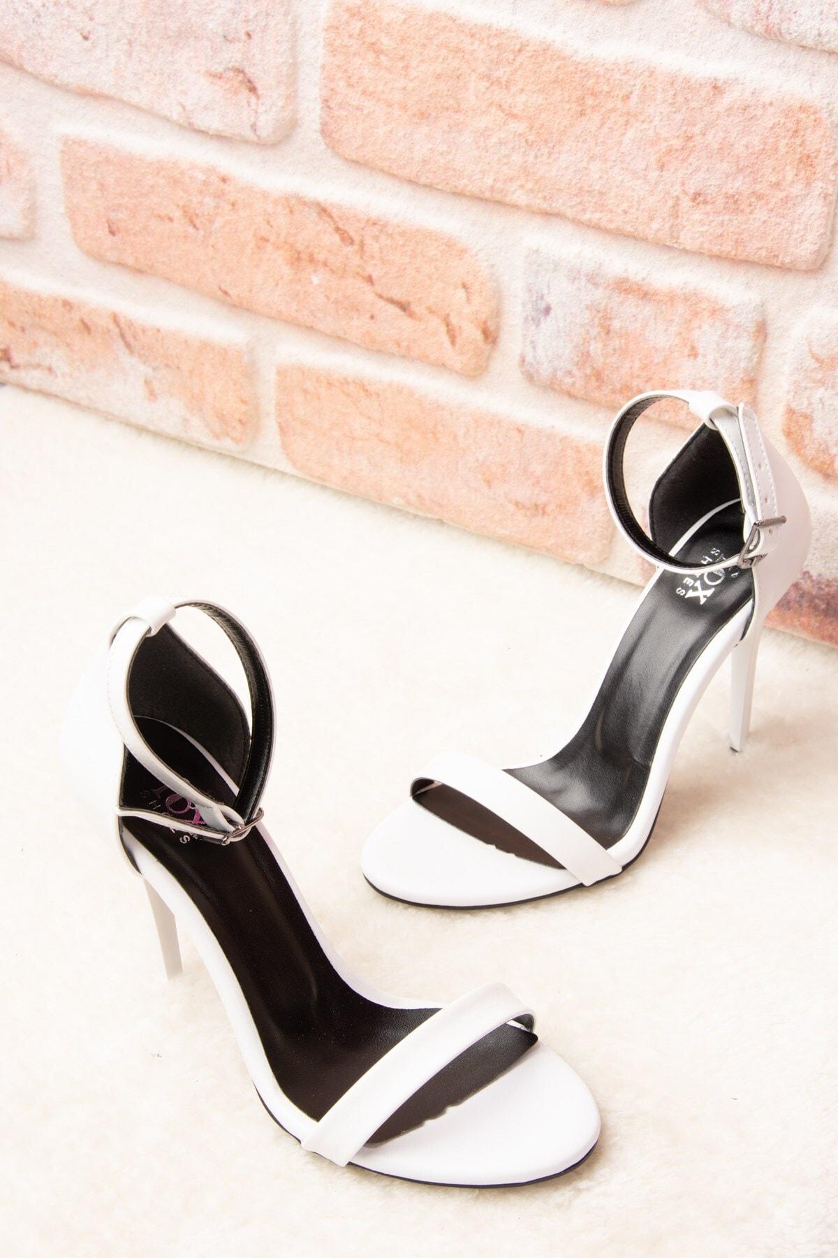 Fox Shoes Beyaz Kadın Topuklu Ayakkabı B922112609 2