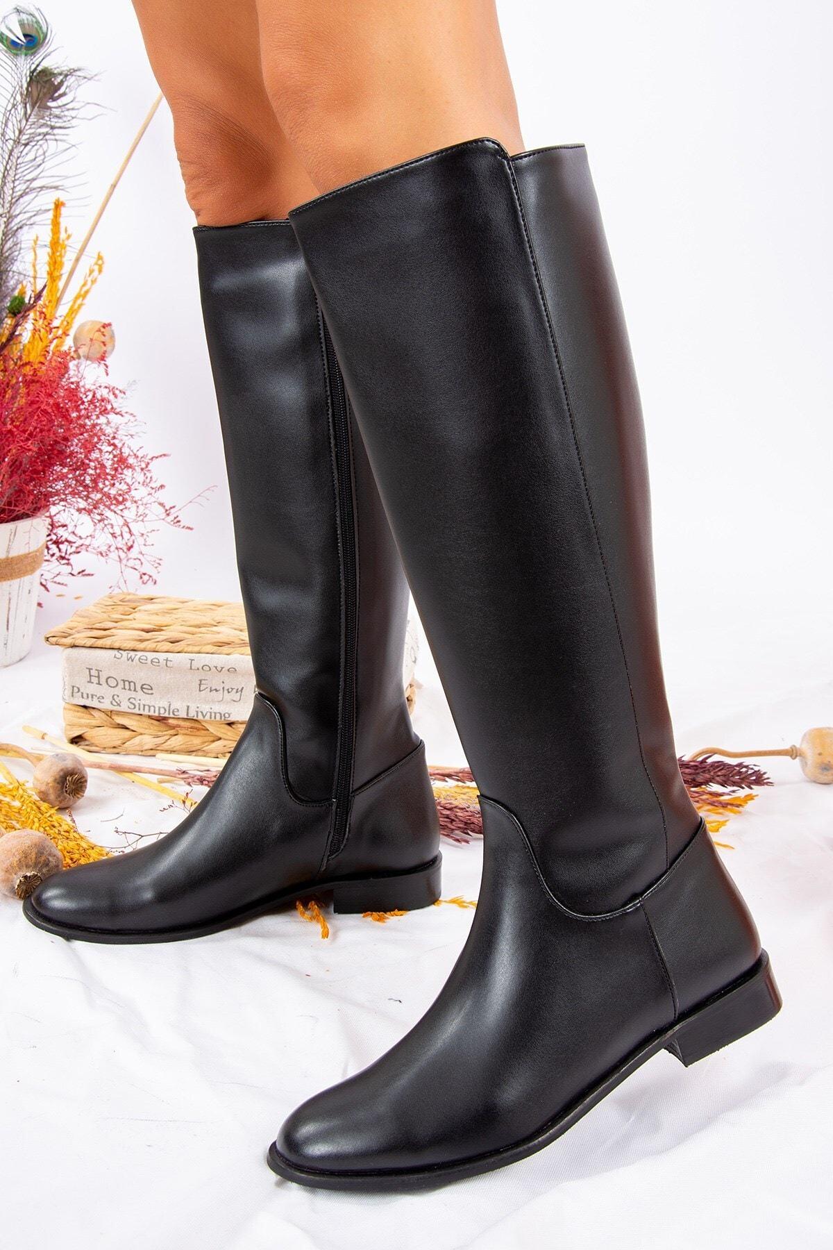 Fox Shoes Siyah Kadın Çizme J654065609 1