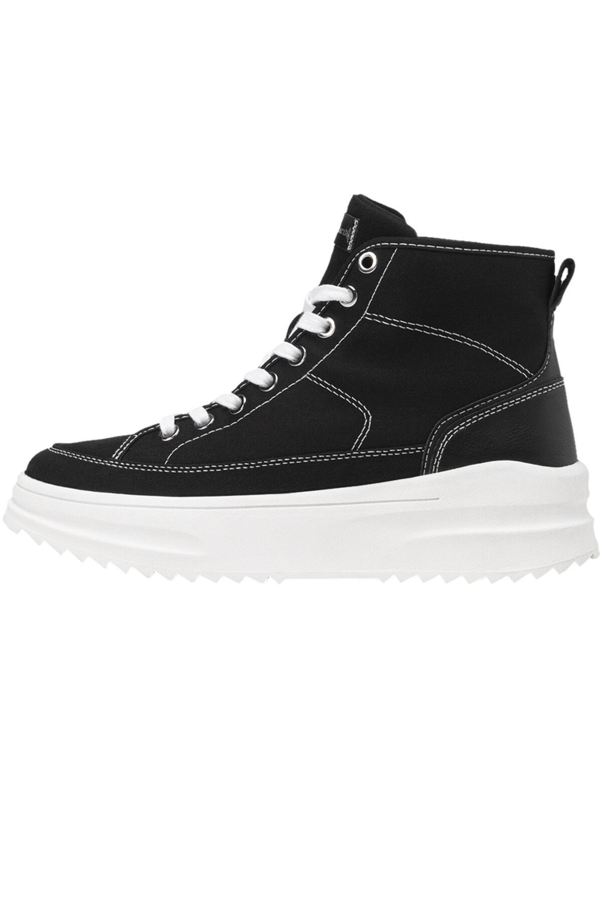Stradivarius Kadın Siyah Kumaş Bilekli Spor Ayakkabı 19005770