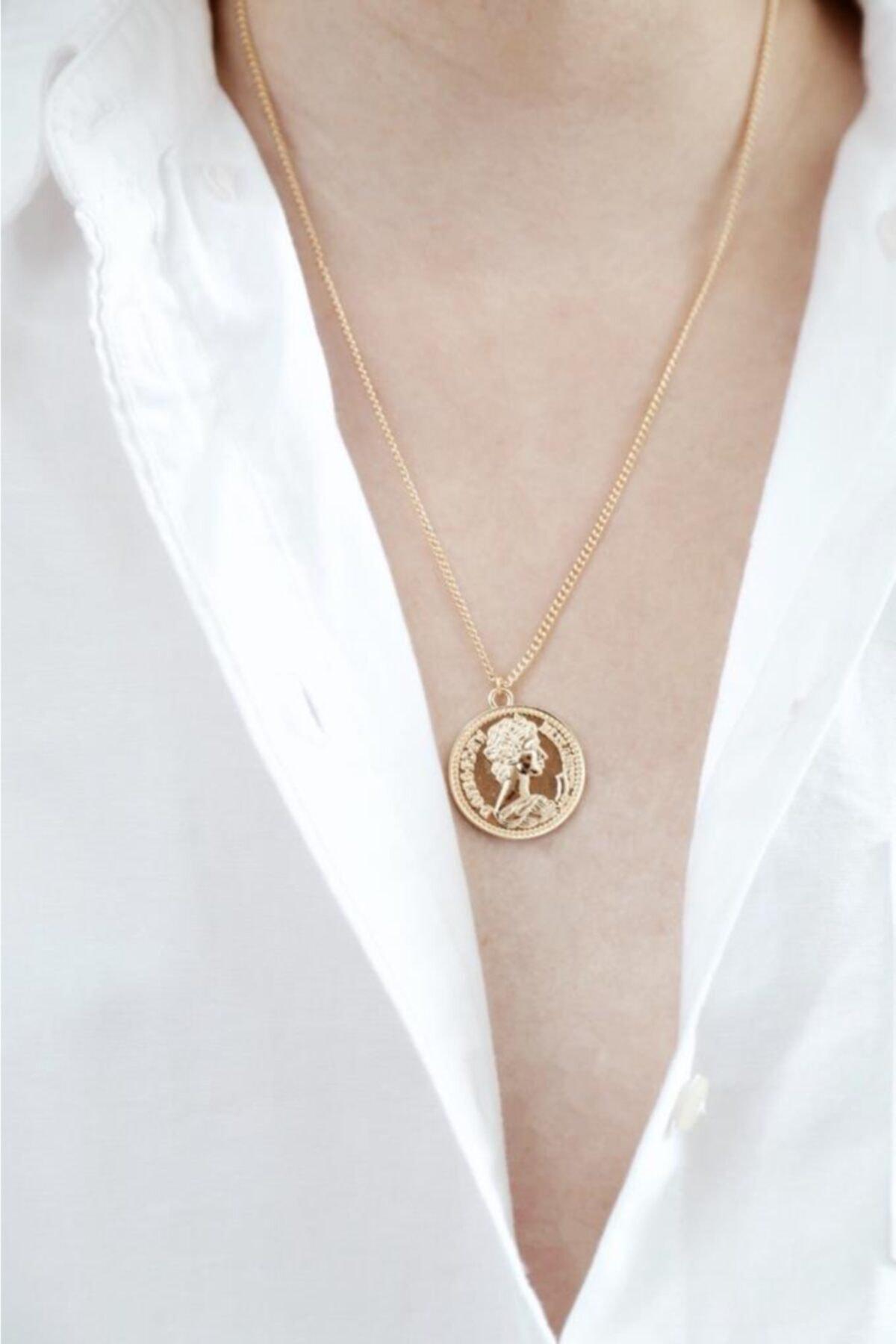 New Obsessions Kadın Altın Mera Madalyon 1