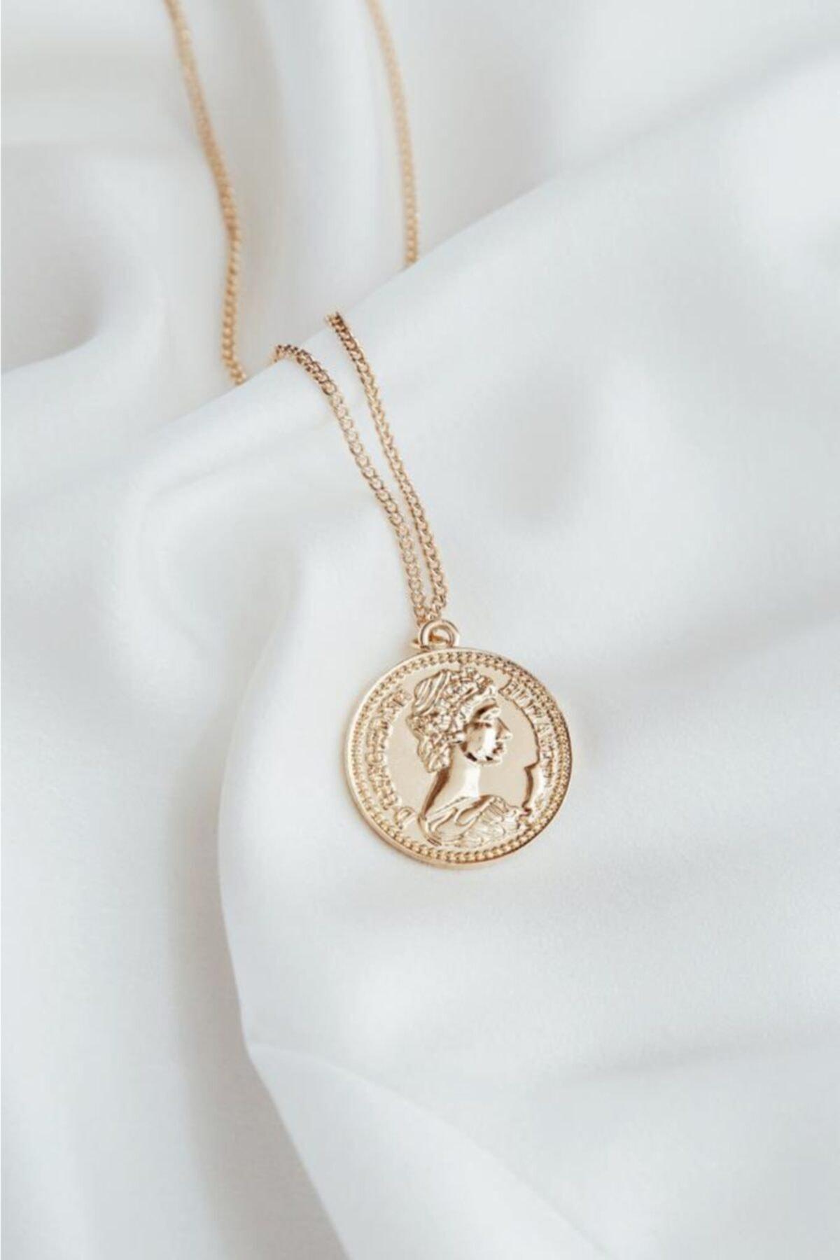 New Obsessions Kadın Altın Mera Madalyon 2
