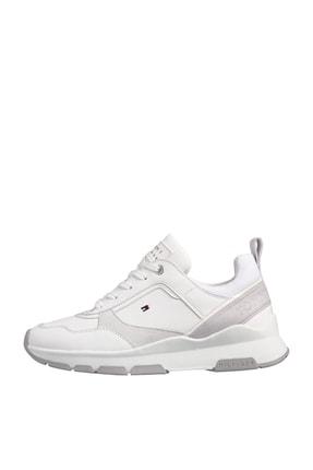 Tommy Hilfiger Kadın Beyaz Sneaker Sporty Chunky Deri Sneaker FW0FW05287