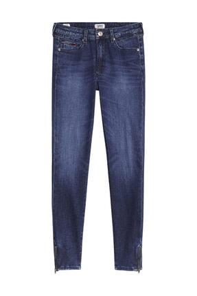 Tommy Hilfiger Kadın Denim Jeans Sylvıa Hr Spr Skny Ank Zıp Dybsd DW0DW08383