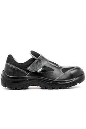 Yepa Yazlık Çelik Burun Iş Ayakkabısı Siyah Hakiki Deri Unisex 1453