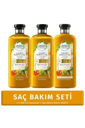 Herbal Essences Yumuşaklık Altın Moringa Yağı Şampuan 400 ml*2 Adet + Saç Bakım Kremi 360 ml
