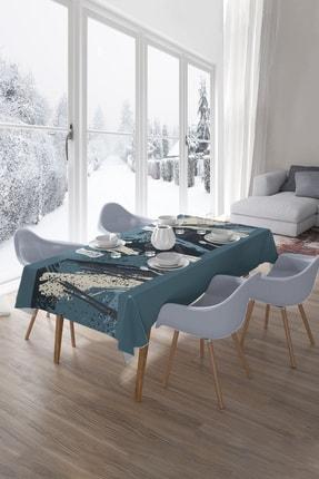 Hediyeler Kapında 150x300 Special Collection Soft Blue Masa Örtüsü