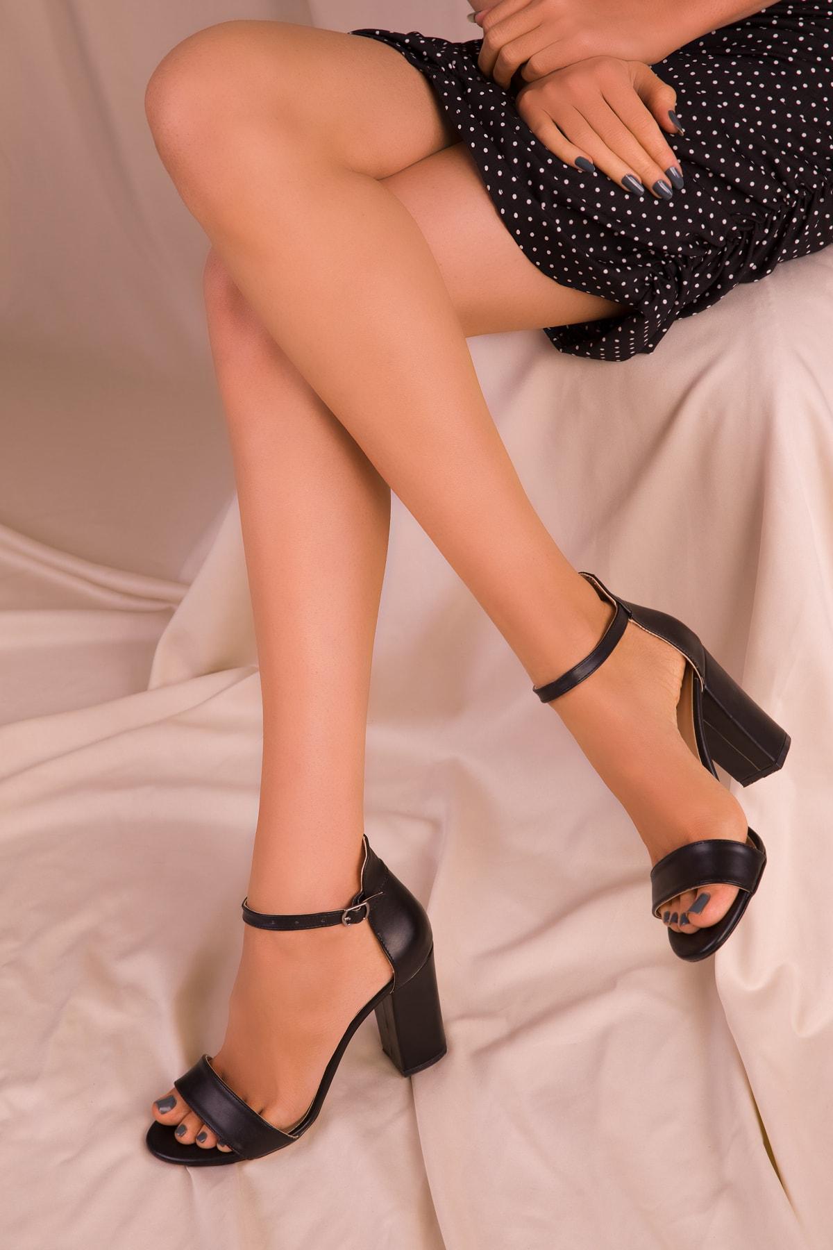 SOHO Siyah Kadın Klasik Topuklu Ayakkabı 14532 1