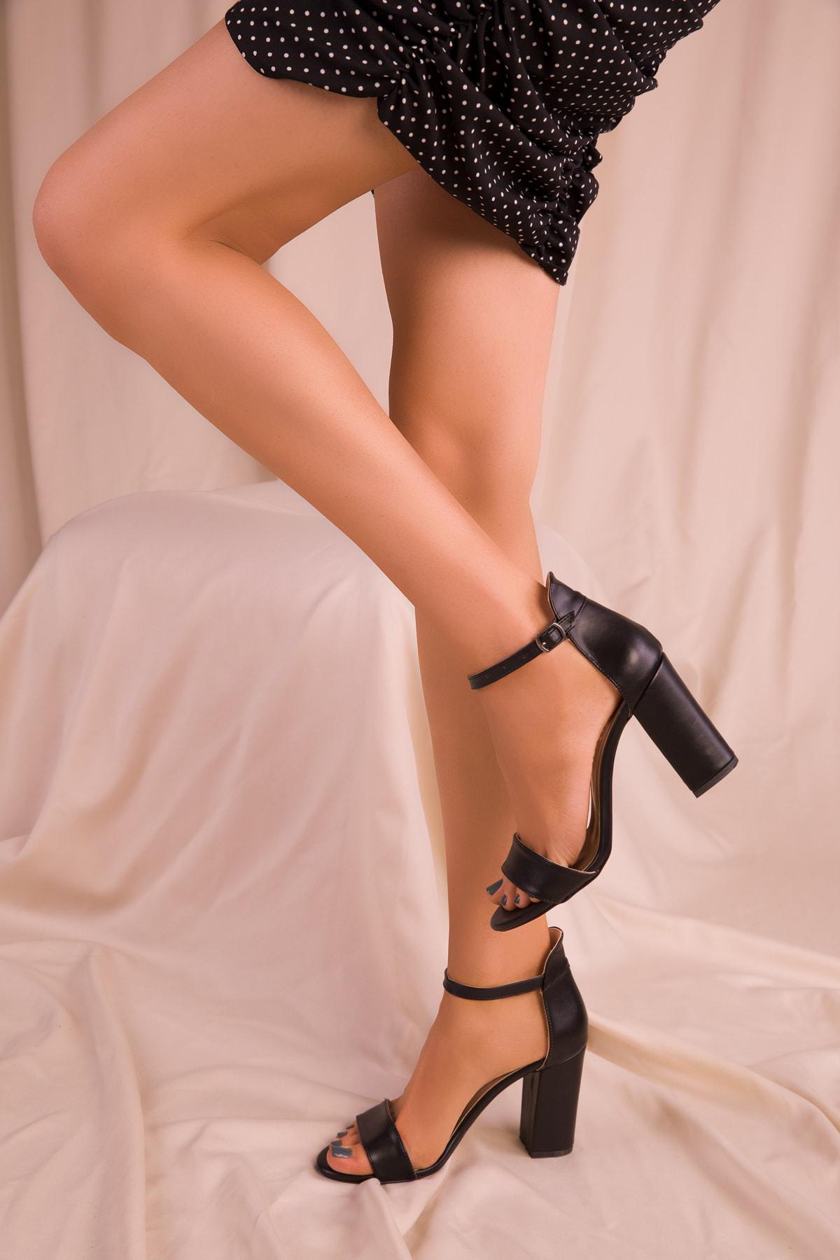 SOHO Siyah Kadın Klasik Topuklu Ayakkabı 14532 2