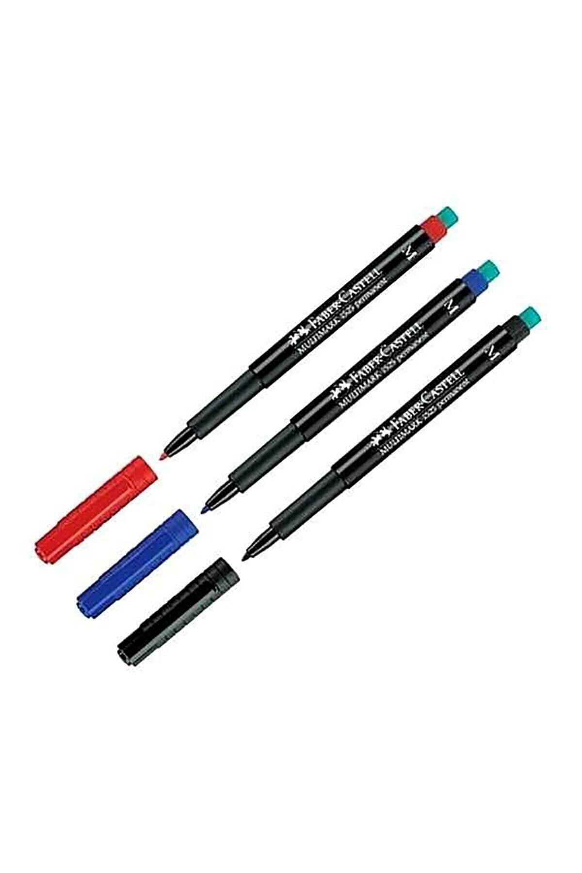 Faber Castell Multimark 1525 Permanent Asetat Kalemi 1.0 Mm (m) Siyah 1 Adet 1