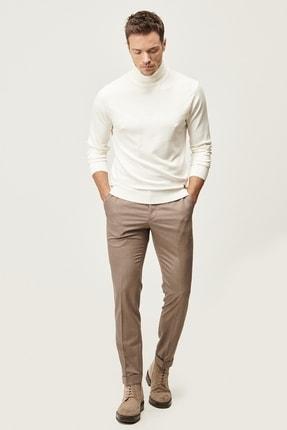 ALTINYILDIZ CLASSICS Erkek Bej Slim Fit Dar Kesim Beli Lastikli Yan Cep Kışlık Klasik Pantolon