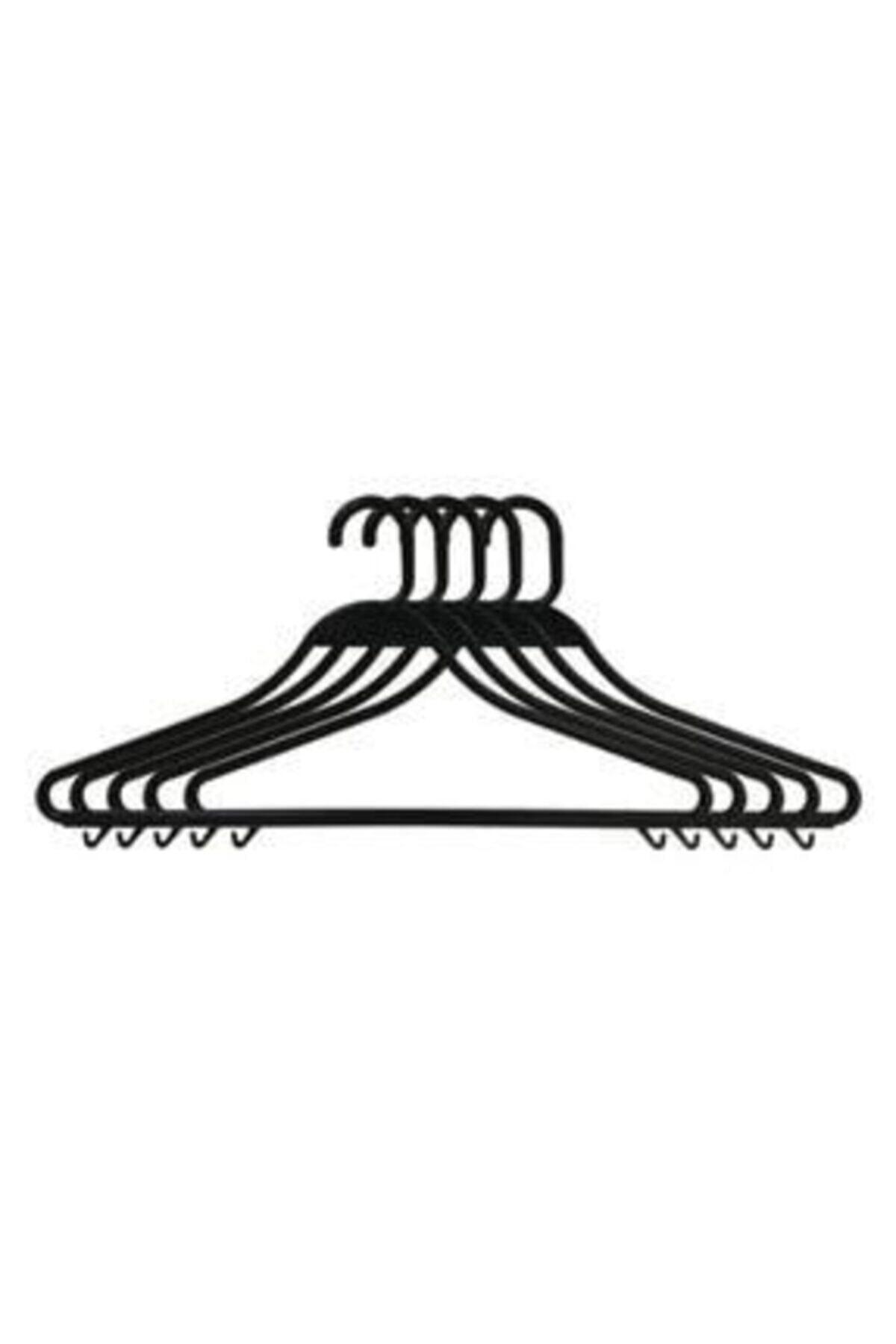 Askıcı Kıyafet Askısı Plastik Kırılmaz Siyah 50 Adet 1