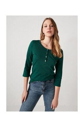 LC Waikiki Kadın Koyu Yeşil Tişört
