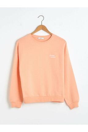 LC Waikiki Kadın Açık Mercan Sweatshirt XSIDE Koleksiyonu