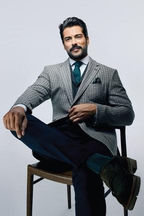 ALTINYILDIZ CLASSICS Erkek Lacivert-Yeşil Slim Fit Kombinli Takım Elbise