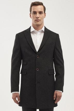 ALTINYILDIZ CLASSICS Erkek Antrasit Standart Fit Desenli Palto
