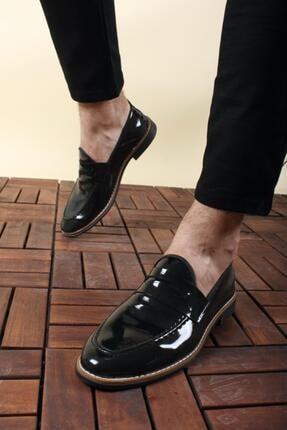 Oksit Jes Püsküllü Erkek Loafer Rugan Ayakkabı