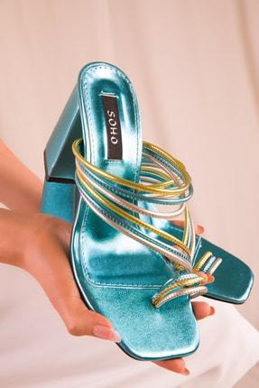 SOHO Turkuaz-Renkli Kadın Klasik Topuklu Ayakkabı 15832