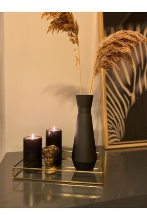 Design Home Dekoratif Siyah Mat Vazo
