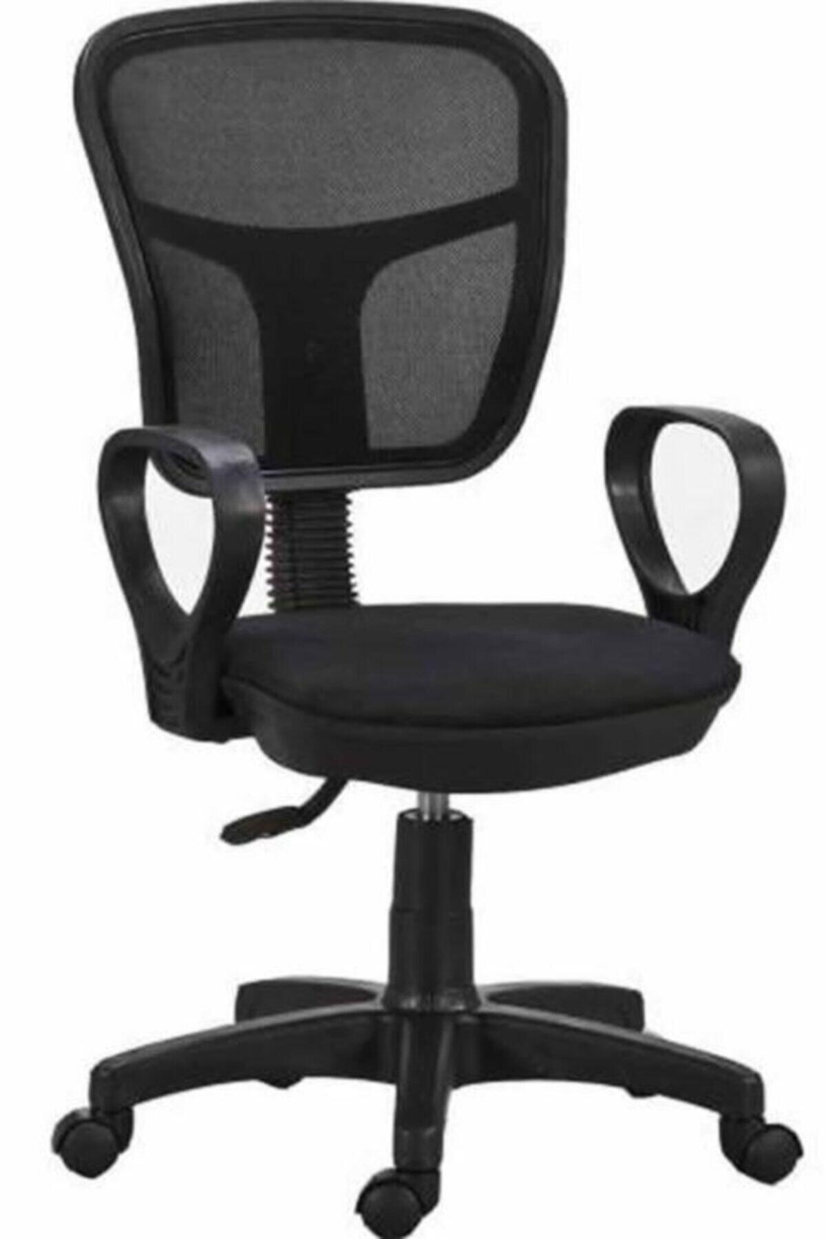HEREVİM Siyah Fileli Bilgisayar Ofis Çalışma Sandalyesi Koltuğu 1
