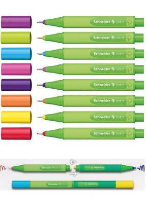 SCHNEIDER Keçe Uçlu Tükenmez Kalem Link-ıt 8 Renk ( Iki Kalemi Birleştir Bir Kalem Iki Renk Yarat ) Set-1