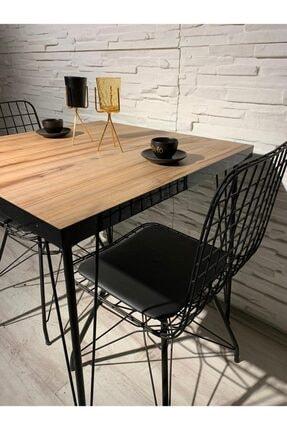 AVVİO Ecem 2 Kişilik Yemek Masası Takımı-mutfak Masası Takımı- Ceviz