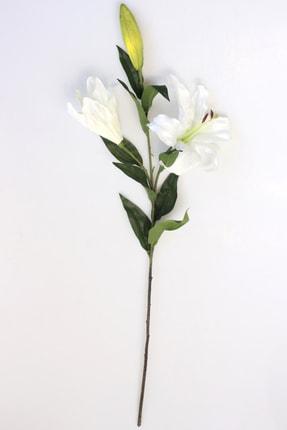Yapay Çiçek Deposu Yapay Çiçek Uzun Dal Lüx 2li Lilyum 90 Cm Beyaz