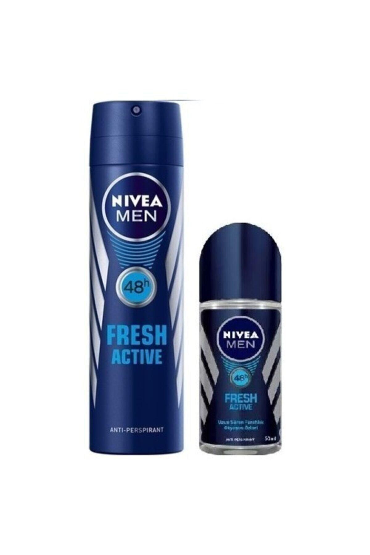 Nivea Fresh Active Erkek Deodorant + Rolon 1