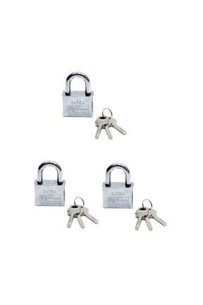 Kastore Akıllı Anahtarlı Çelik Asma Kilit 3 Lü Set