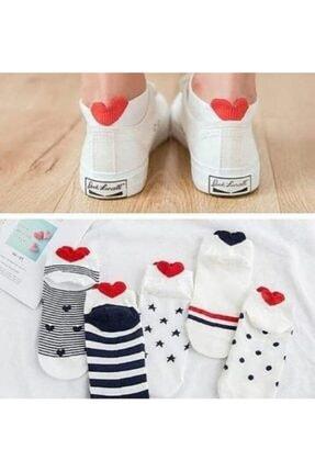Zirve Sevgili Çorabı Kalpli 6lı