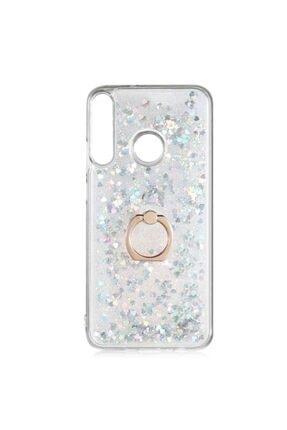 Huawei Teleplus Y6p Kılıf Aqueous Silicone Gümüş With Milce Ring