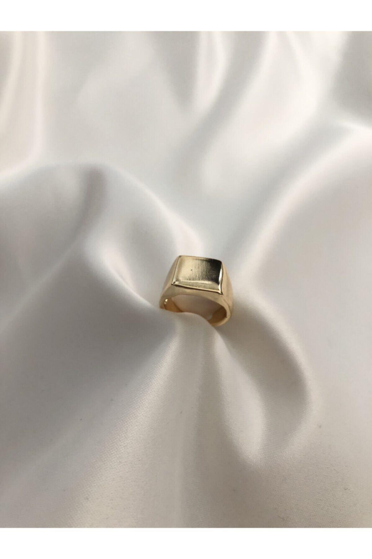 The Y Jewelry Gold Kare Şövalye Yüzük-ayarlanabilir 2