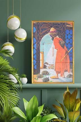 bluecape Kaplumbağa Terbiyecisi Antik Limra Taş Özel Baskı Duvar Salon Mutfak Ofis Yatak Odası Tablo