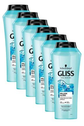 Gliss Million Gloss Yoğun Parlaklık Veren Şampuan 400 ml 6'lı