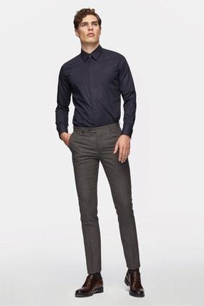 D'S Damat Tween Slim Fit Bordo Desenli Kumaş Pantolon