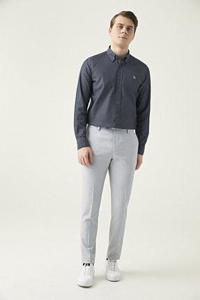 Twn Gri Renk Erkek  Pantolon (Slim Fit)