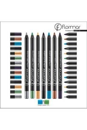 Flormar Suya Dayanıklı Eyeliner Ultra Balck Yağlı Göz Kalemi 12 Li