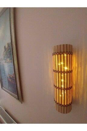 Harflamba Peri Ledli Dekoratif Bambu Aplik & Abajur (Pilli) Gece Lambası
