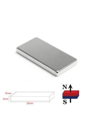 Dünya Magnet 30 Adet 20mm X 10mm X 2mm Köşeli Güçlü Neodyum Mıknatıs
