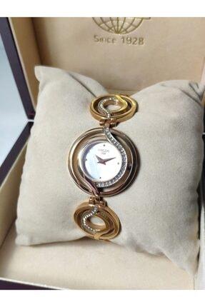 Hislon Rose Gold Kadın Kol Saati Özel Künye Tasarım Sedef Kadran