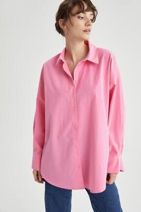 DeFacto Basic Oversize Fit Pamuklu Poplin Gömlek