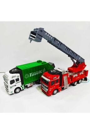 MEGA Metal Çöp Arabası ve İtfaiye